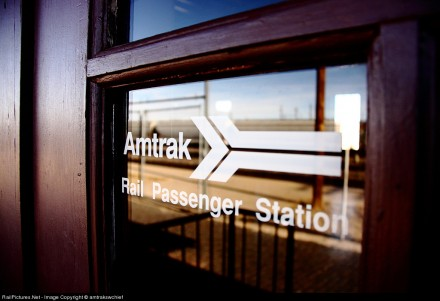 Although the depot hasn't seen a scheduled Amtrak train since 1997, when Amtrak's Pioneer was discontinued, the doors still identify the building as the Amtrak Rail Passenger Station.
