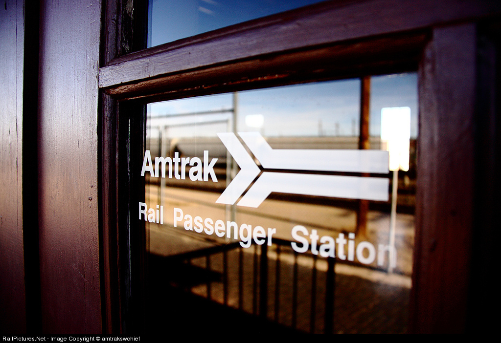 Amtrak station, Laramie, WY. Copyright Kevin Farlow, used by permission.